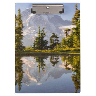 Mt. Rainier reflected in a tarn near Plummer Peak Clipboards
