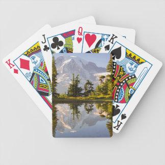 Mt. Rainier reflected in a tarn near Plummer Peak Card Decks
