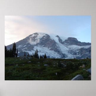 Mt Rainier, Seattle Poster