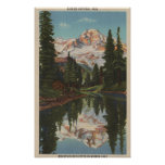 Mt. Rainier, WA - Mirror Lake with Mt. Reflectio Poster