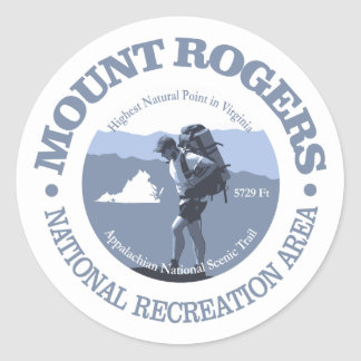 Mt Rogers NRA Classic Round Sticker