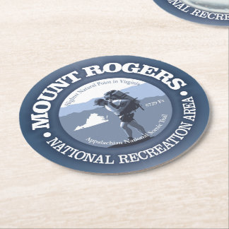 Mt Rogers NRA Round Paper Coaster