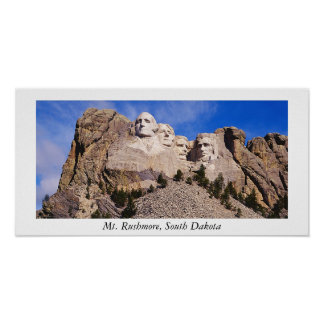 mt. rushmore, Mt. Rushmore, South Dakota Poster