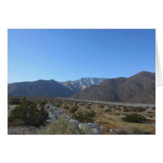 Mt San Jacinto greeting card