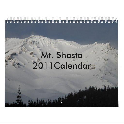 Mt. Shasta 2011Calendar Calendrier Mural