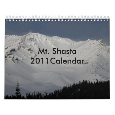 Mt. Shasta 2011Calendar Calendriers Muraux