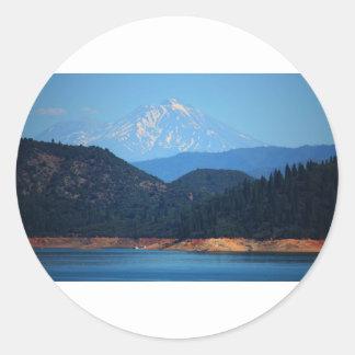 Mt Shasta Classic Round Sticker