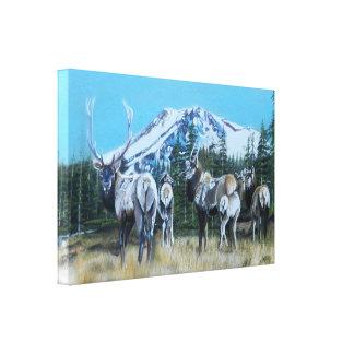 Mt. Shasta Elk Canvas Print