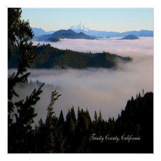 Mt. Shasta past the lake of fog.... Poster