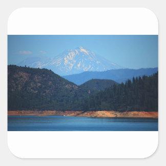 Mt Shasta Square Sticker