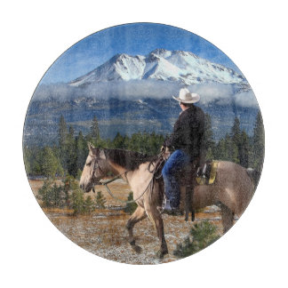 MT SHASTA WITH HORSE AND RIDER BOARDS