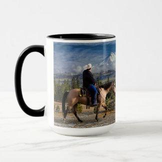 MT SHASTA WITH HORSE AND RIDER MUG