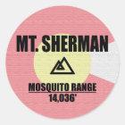 Mt. Sherman Classic Round Sticker