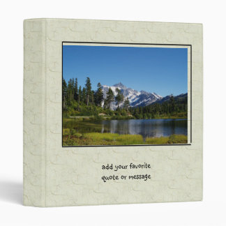 Mt Shuksan From Picture Lake Vinyl Binder