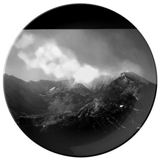 Mt. St. Helens Crater Porcelain Plates