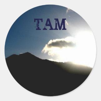 mt tam: TAM Classic Round Sticker