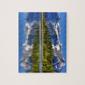 Mt. Timpanogos Reflected In Silver Lake Flat Jigsaw Puzzle