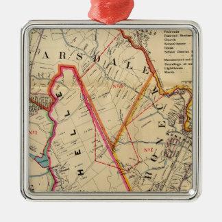 Mt. Vernon, E Chester, Pelham, New Rochelle, NY Silver-Colored Square Ornament