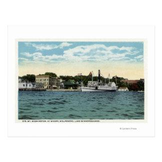 Mt. Washington Steamer at Wolfeboro Wharf Postcard