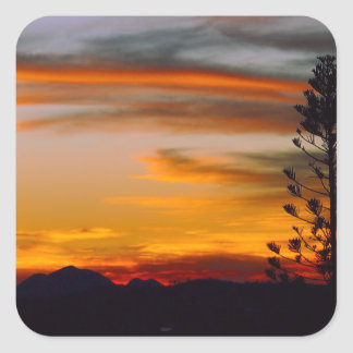 Mt Wheeler sunset sticker