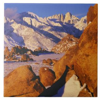 Mt. Whitney and Lone Pine peak Ceramic Tiles