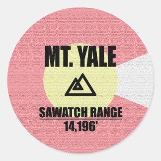 Mt. Yale Classic Round Sticker