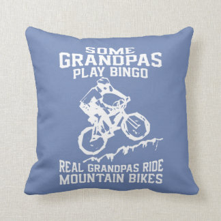 MTB Grandpa Throw Pillow