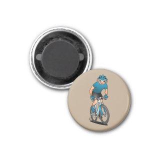 MTB - Mountain biker on his moutainbike Magnet