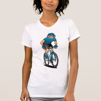 MTB - Mountain biker on his moutainbike T-Shirt