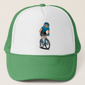 MTB - Mountain biker on his moutainbike Trucker Hat