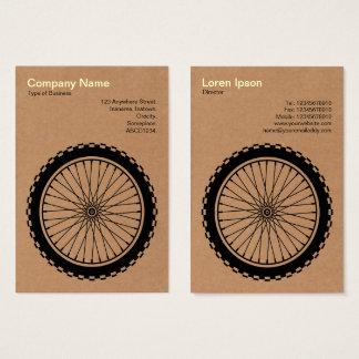 MTB Wheel  - Cardboard Business Card