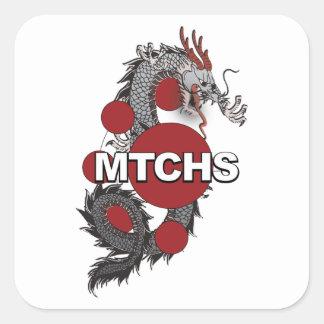 MTCHS Dragon Logo Square Sticker