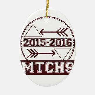 MTCHS Hipster Badge Ceramic Oval Ornament