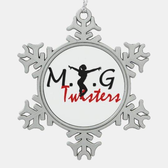 MTG Twisters Pewter Snowflake Pewter Snowflake Ornament
