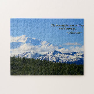 Mtns are calling/Denali-J Muir Jigsaw Puzzle