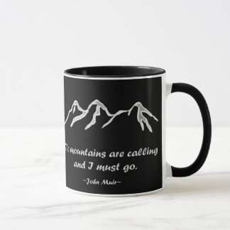 Mtns are calling / Snowy / Custom Color Background Mug