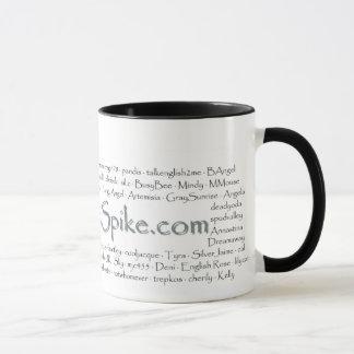 MTS member names on a mug