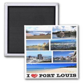 MU - Mauritius - I Love - Collage Mosaic Magnet
