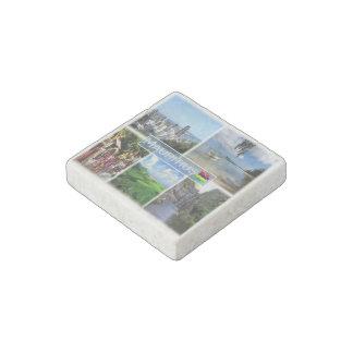 MU Mauritius - Port Louis Skyline - Stone Magnets