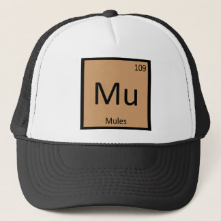 Mu - Mules Chemistry Periodic Table Element Symbol Trucker Hat