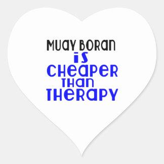 Muay Boran Is Cheaper  Than Therapy Heart Sticker