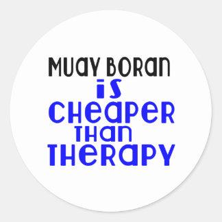 Muay Boran Is Cheaper  Than Therapy Round Sticker