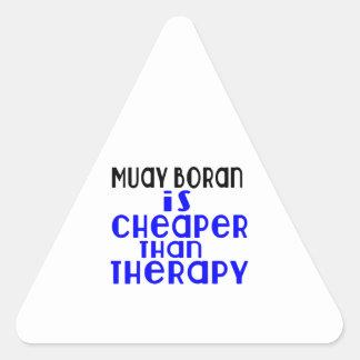 Muay Boran Is Cheaper  Than Therapy Triangle Sticker