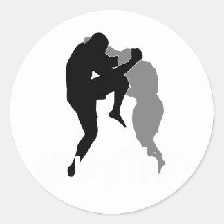 Muay Thai2 Classic Round Sticker
