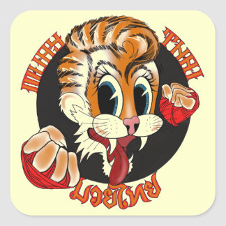 Muay Thai Cat Sticker