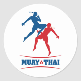 Muay Thai Classic Round Sticker