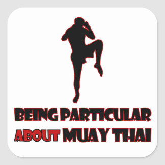 muay thai Designs Square Sticker