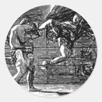 Muay Thai, Fight, Thai Boxing Classic Round Sticker
