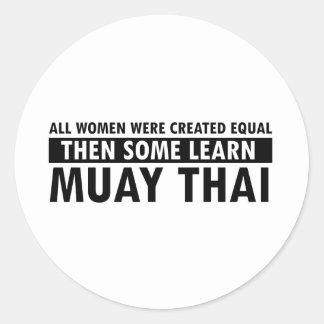 Muay Thai gift items Classic Round Sticker