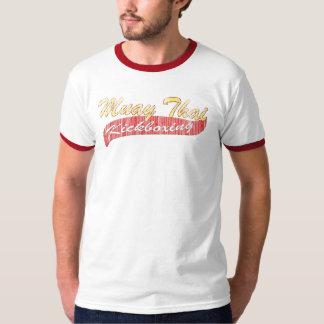 Muay Thai Kickboxing Distressed T-Shirt